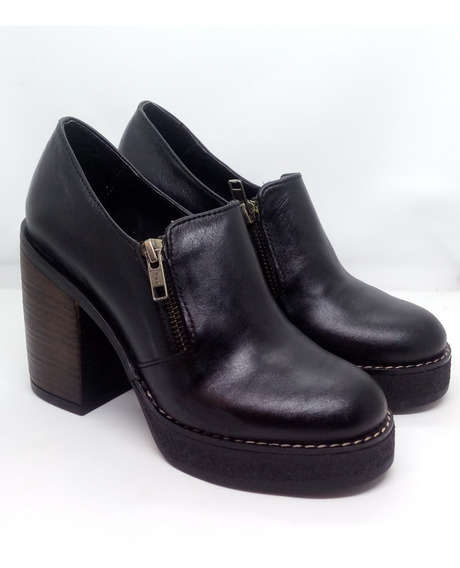 Zapatos Mujer Cuero Taco Alto Zuca Art 706 Zona Zapatos
