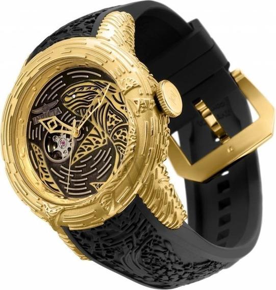Relógio Invicta 26427 Dourado 18k Carpa Automático * Yakuza