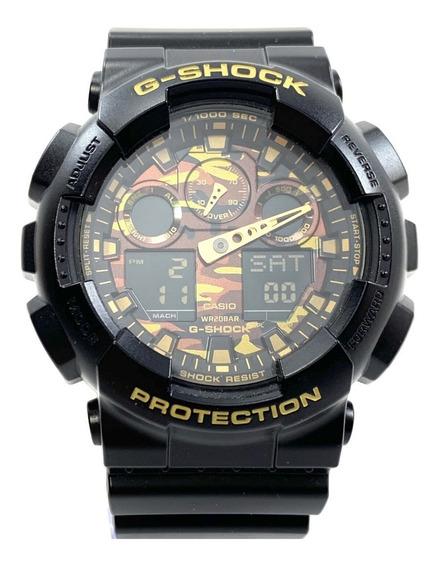 Ga100 Relogio Casio G-shock Camuflado Certificado + Etiqueta