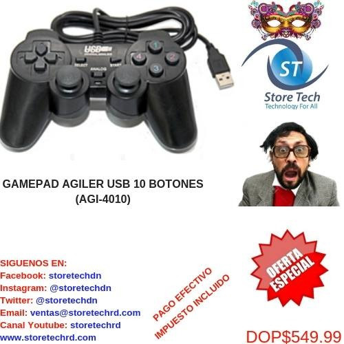 Gamepad Agiler Usb 10 Botones. (agi-4010)