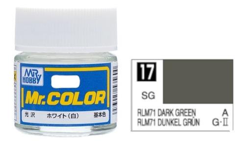 Tinta Acrílica Drak Green Rlm 71 Dunkel Grun Mr Color 17