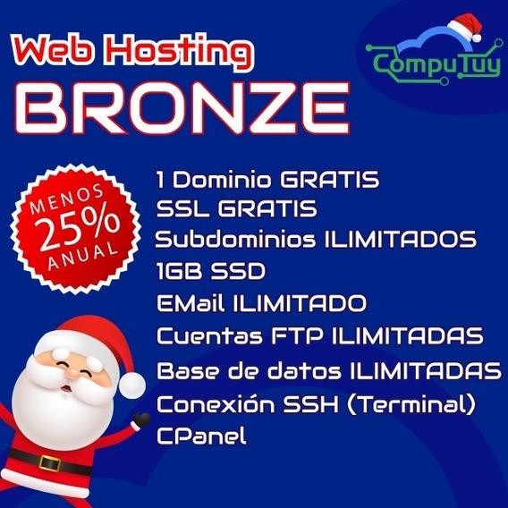 Web Hosting Y Dominio, Cpanel -1gb De Espacio X Mes