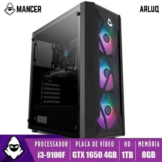 Pc Gamer Mancer Arluq, I3-9100f, Gtx 1650 4gb, 8gb Ddr4, 1tb