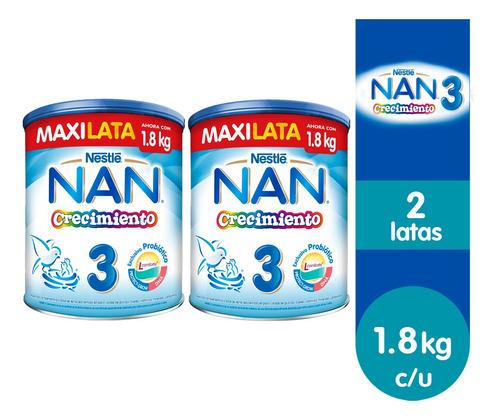 Nan® 3 Crecimiento - 2 Latas De 1.8kg C/u
