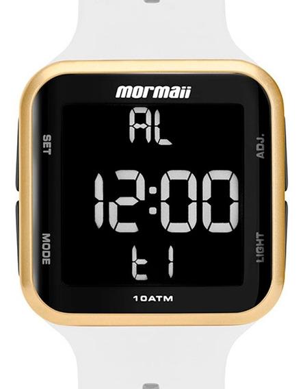 Relógio Mormaii Feminino Branco Digital Mo6600ad/8b Original
