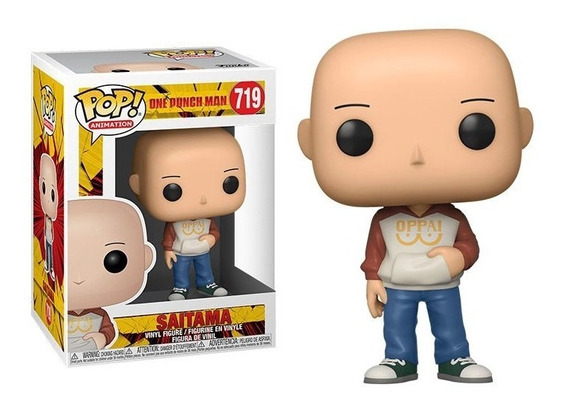Boneco Funko Pop Animation Saitama 719 One Punch Man Casual