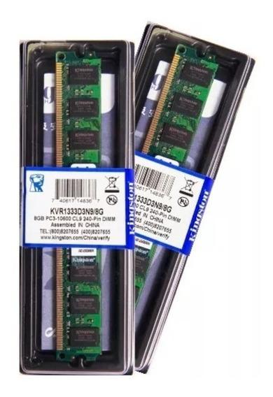 Memória Kingston Ddr3 8gb 1333 Mhz Desktop 16 Chips 1.5v
