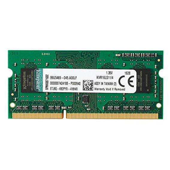 Memoria Sodimm Ddr3 4gb Kingston 1600 Cl11 Non Ecc