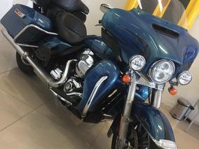 Moto Harley Davidson Ultra Limited Azul Motocicleta