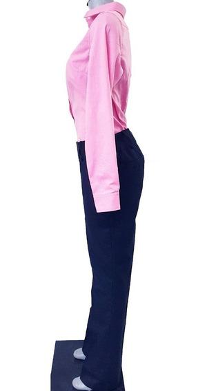Pantalon Dama Ejecutivo Marino Casimir 65/35 Pol/viscosa