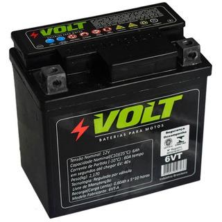 Bateria Moto Biz Cg Titan Fan 125 150 Selada 6ah Amperes 12v
