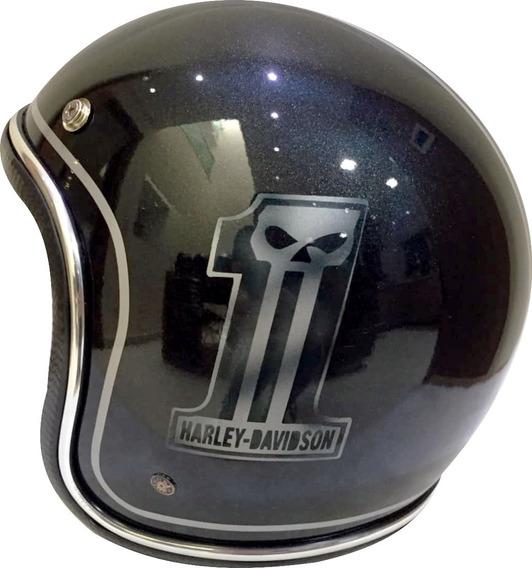 Capacete Old School Harley Davidson