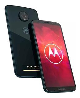 Celular Liberado Motorola Moto Z3 Play Xt1929 Indigo Cuotas