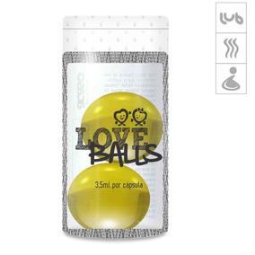 Bolinha Aromatizada Love Balls 2un - Amarelo