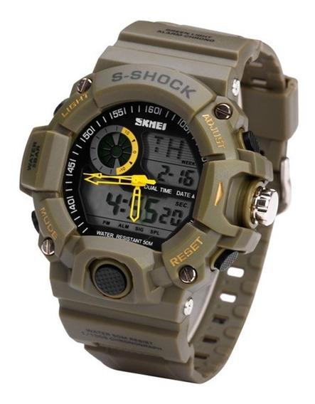 Relógio Militar Skmei Shock Analógico Digital Prova D`água