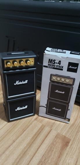 Mini Amplificador Marshall Ms4 Combo Para Guitarra Estudos