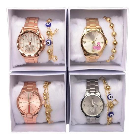 Kit C/ 20 Relógios+ Caixa+ Pulseiras Cliente Especial