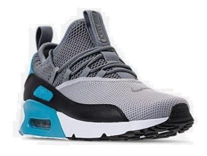 Zapatos Nike Airmax 90 Two Gris Azul Damas Y Caballeros..