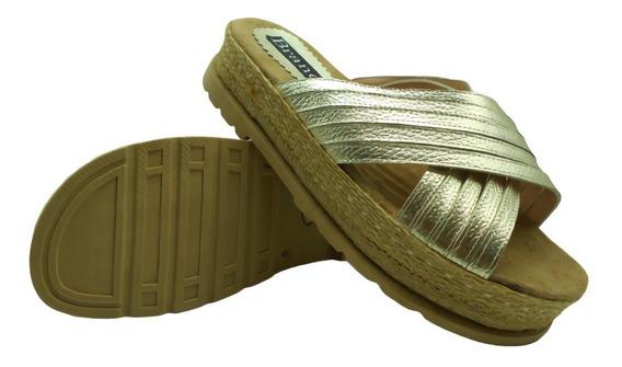 Sandalia Zueco Cruzada Cuero Vacuno Base Zapato Mujer 936