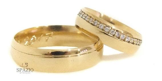 Aliança Casamento Ouro 18k (750)! Garantia Permanente!