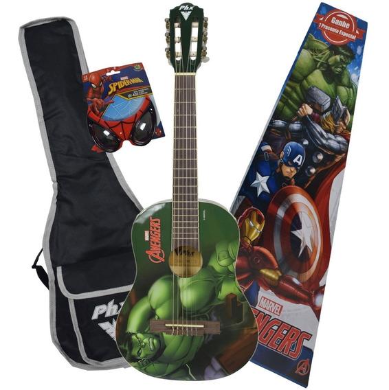 Violão Infantil Marvel Vingadores Capitã Homem Aranha Hulck