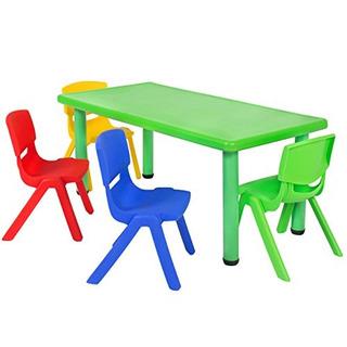 Mejor Elección Productos Multicoloreadoset Mesa Y 4sill