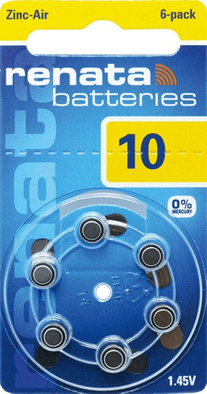 30 Pilha Aparelho Auditivo 10 Bateria Auditiva Za10 Renata