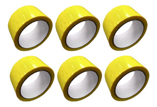 E Cinta Amarilla Adhesiva X 6 Unidades