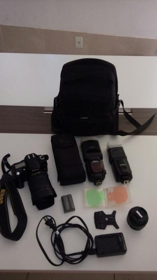 Camera Nikon D90 Mais Acessorios.