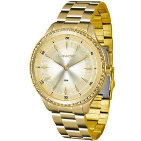 Relógio Lince Feminino Analógico Dourado Lrg4427lc1kx