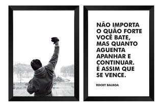 Quadro Rocky Balboa 59x84 No Mercado Livre Brasil