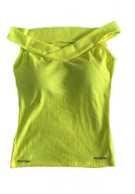 Kit Com 3 Blusa Canelada Decote Canoa Ombro A Ombro De Fora