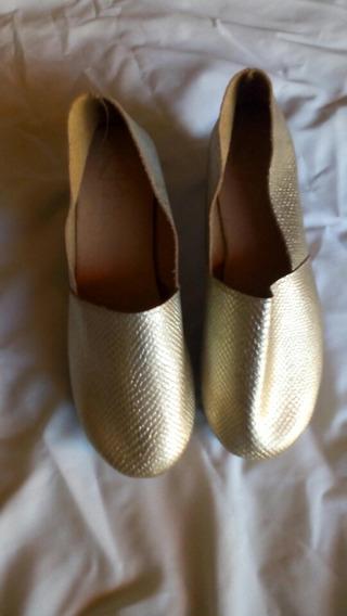 Remate Zapatos De Plataforma #6 Color Dorado