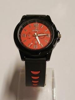 Reloj Pulsera Malla Silicona Color Rojo. Cuotas Sin Interes
