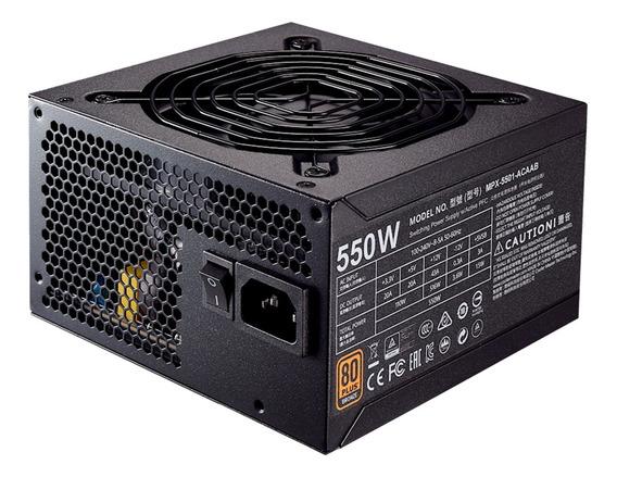 Fonte Atx 550w 80plus Bronze Cooler Master Mpx-5501-acaab-wo
