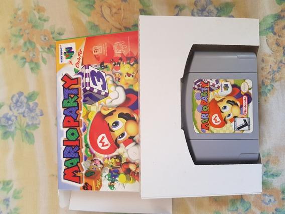 Cartucho Mario Party Nintendo 64 Original Com Berço Paralelo