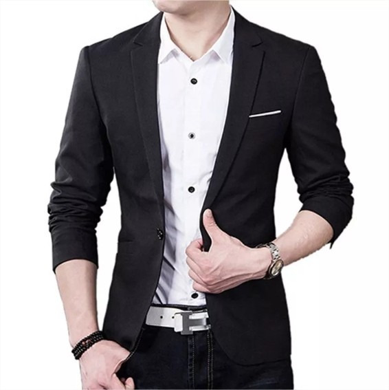 Blazer Masculino Slim Fit Top Luxo Casual Pronta Entrega