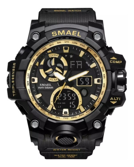 Relógios Militar Esportivo Smael Original - Gold