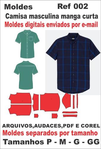Moldes Camisa Masculina M/c