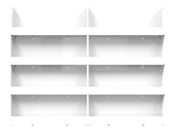 Expositor Organizador Parede 64 Esmaltes 08 Bandejas Branco