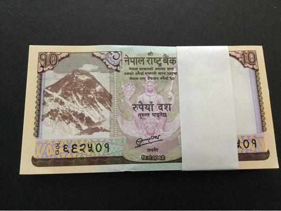 Nepal 10 Rupees Milheiro De Cédulas Fe Leia Anuncio