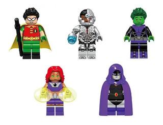 Jovenes Titanes Set 5 Figuras Lego Compatibles