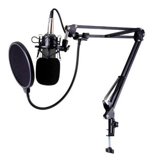 Kit Radio Web_microfone Condensado + Pop Filter + Aranha + B