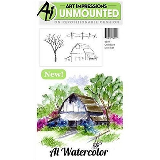 Art Impressions Cling Rubber Stamp Sets Old Barn, 3 X 4