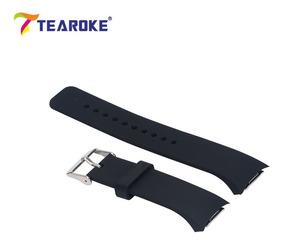 Pulseira Silicone Relógio Samsung Gear S2 Sm-r720 Preta Top!
