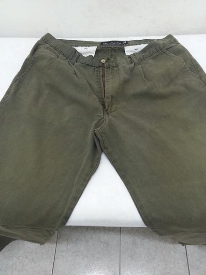 Pantalón Hombre 46, Pinzado. Kevingston, Verde Militar.