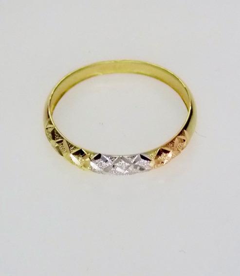Anel Em Ouro 18k Diamantado Feminino