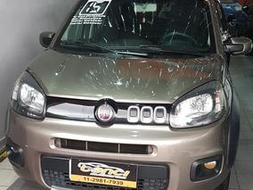 Fiat Uno Way Motor 1.0 Cor Cinza Completo 2015