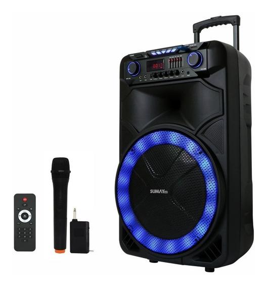 Caixa Som Amplificada Bluetooth 1000w Rms, Festas, Palestras, Lojas, Troca De Pasta, Recarregável Bateria Carro,