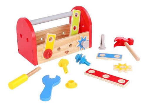 Caja De Herrmientas Madera De Tooky Toy (tkc464)
